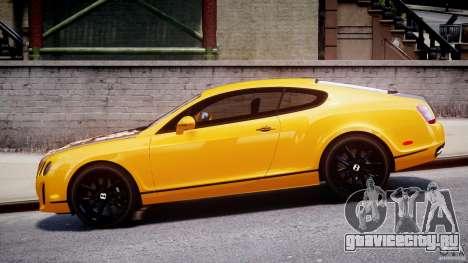 Bentley Continental SS 2010 ASI Gold [EPM] для GTA 4 вид изнутри
