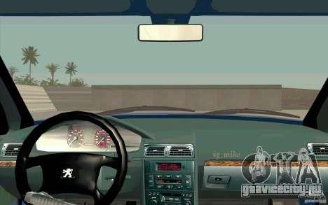 Peugeot 406 1.9 HDi для GTA San Andreas вид сзади