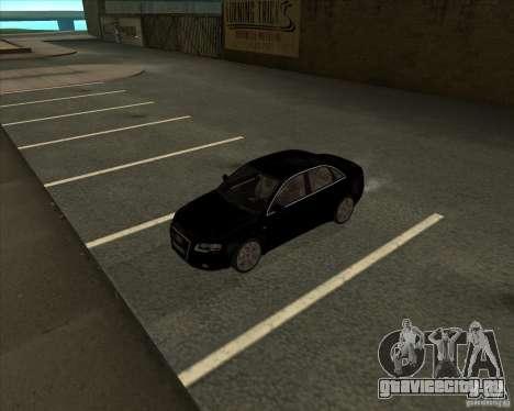 AUDI S4 Sport для GTA San Andreas вид изнутри