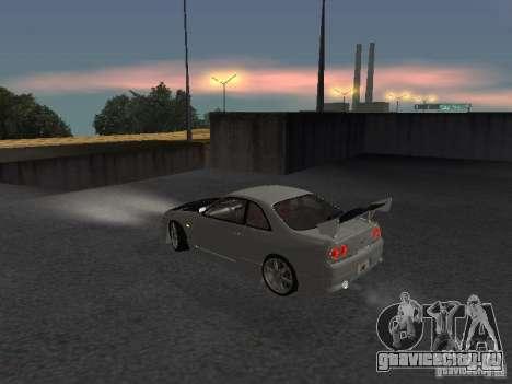 Nissan Skyline R33 SGM для GTA San Andreas вид сзади слева