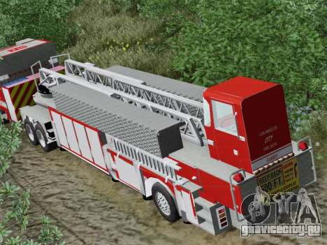 Pierce Arrow XT LAFD Tiller Ladder Trailer для GTA San Andreas вид сбоку