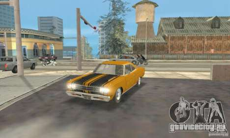 Plymouth Roadrunner 383 для GTA San Andreas вид сзади слева