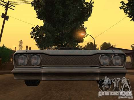 New Savanna - новые покрасочные работы для GTA San Andreas вид сзади слева