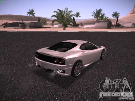 Ferrari 360 Modena для GTA San Andreas вид справа