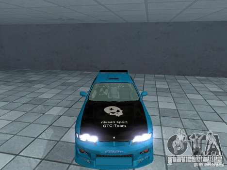 Nissan Skyline R 33 GT-R для GTA San Andreas вид изнутри