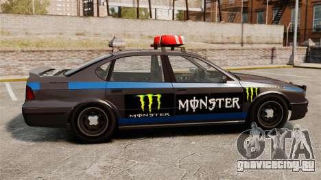 Полиция Monster Energy для GTA 4 вид сзади слева