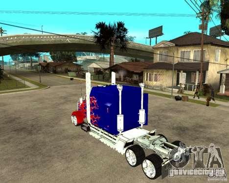 Truck Optimus Prime для GTA San Andreas вид слева