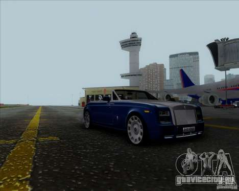 Rolls Royce Phantom Series II Drophead Coupe 12 для GTA San Andreas вид сзади слева