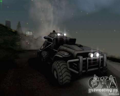Cheta Paw из Borderlands для GTA San Andreas вид изнутри