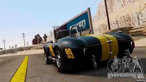 AC Cobra 427 для GTA 4 вид сзади слева
