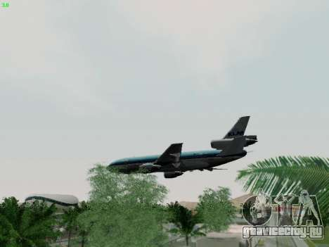 McDonell Douglas DC-10-30 KLM Royal Dutch для GTA San Andreas вид сверху