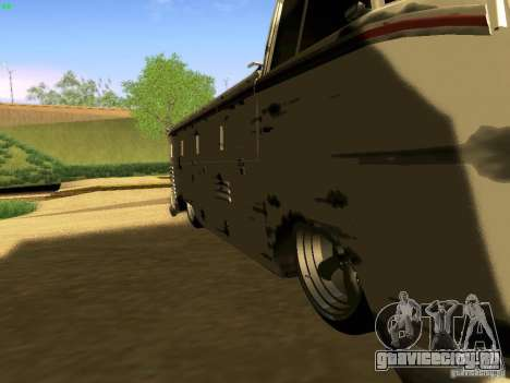 Volkswagen Type 2 Single Cab Rat для GTA San Andreas вид сзади слева