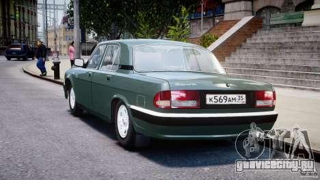 ГАЗ-31105 для GTA 4 вид сзади слева