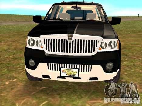 Lincoln Navigator для GTA San Andreas вид справа