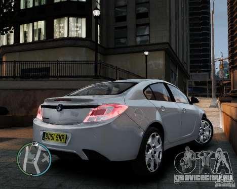 Vauxhall Insignia v1.0 для GTA 4 вид сзади