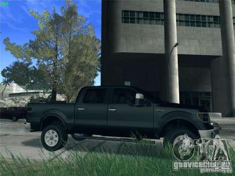 Ford F-150 2013 для GTA San Andreas вид сзади слева