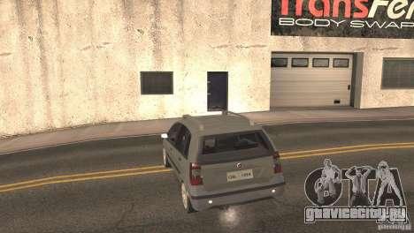 Fiat Idea HLX для GTA San Andreas вид сзади