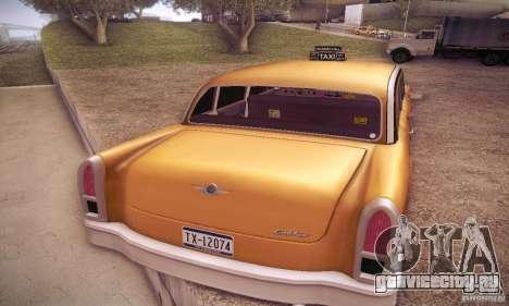 Cabbie HD для GTA San Andreas вид сзади слева