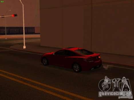Hyundai Genesis Coupé 3.8 Track V1.0 для GTA San Andreas вид сверху