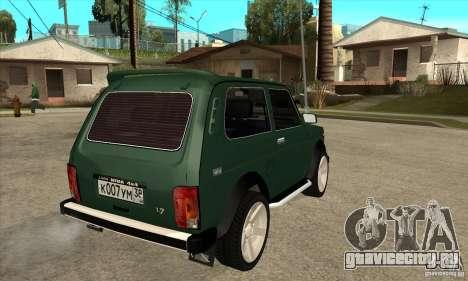ВАЗ 21213 НИВА для GTA San Andreas вид справа
