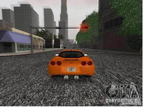 Chevrolet Corvette (C6) для GTA San Andreas вид сзади слева