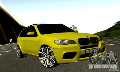 BMW X5М Gold для GTA San Andreas вид сзади