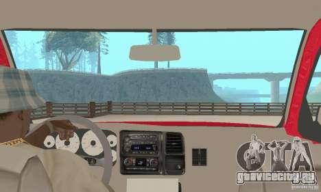 Chevrolet Tahoe 1992 для GTA San Andreas вид изнутри