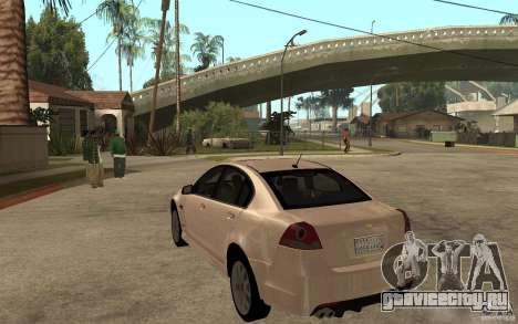 Chevrolet Lumina 2010 для GTA San Andreas вид сзади слева