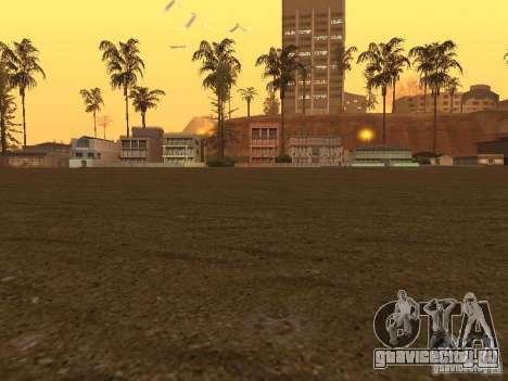 HD Пляж Санта Мария для GTA San Andreas третий скриншот