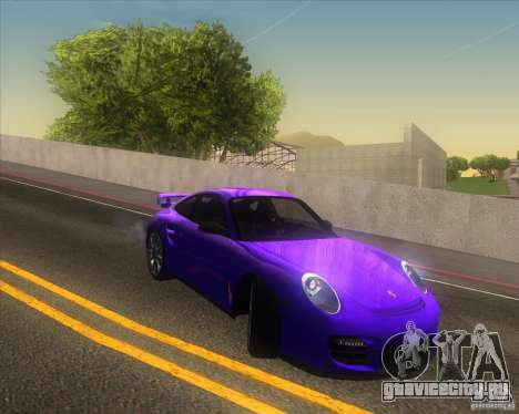 Porsche 911 GT2 (997) для GTA San Andreas вид сверху