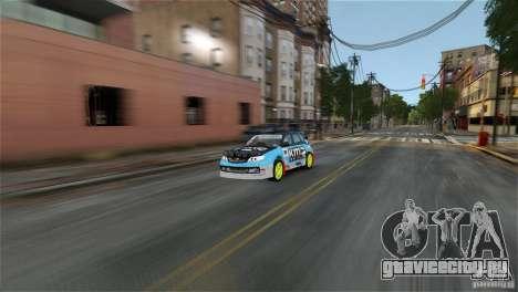 Subaru Impreza WRX STI Rallycross KMC Wheels для GTA 4 вид слева