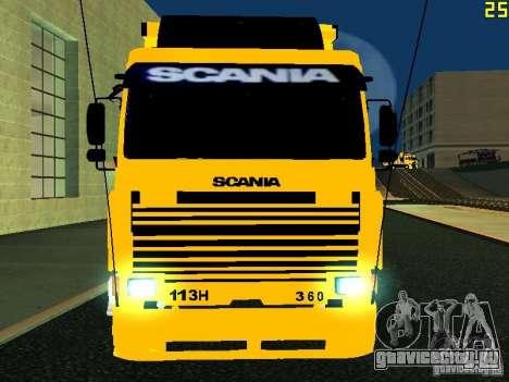 Scania 113H для GTA San Andreas вид изнутри