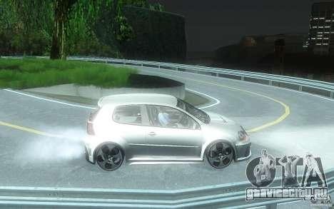 VolksWagen Golf GTI W12 TT Black Revel для GTA San Andreas вид сзади