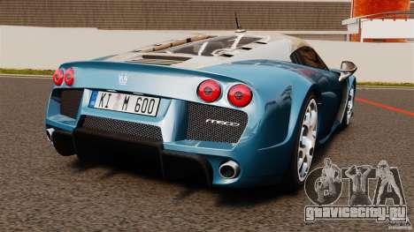 Noble M600 Bicolore 2010 для GTA 4 вид сзади слева