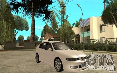 Seat Leon Cupra - Stock для GTA San Andreas вид сзади