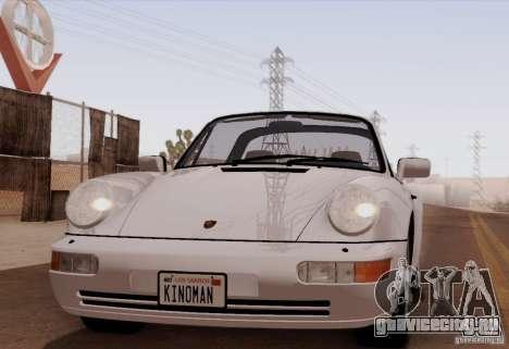 Porsche 911 Carrera 4 Targa (964) 1989 для GTA San Andreas вид сзади слева