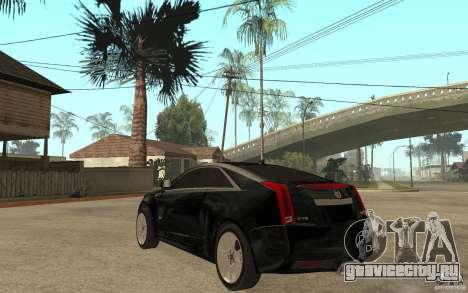 Cadillac CTS V Coupe 2011 для GTA San Andreas вид сзади слева