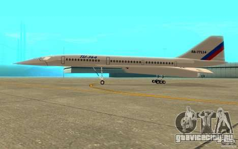 ТУ-144 для GTA San Andreas вид сзади слева