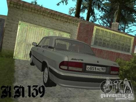 Газ 3110 beta 0.1 для GTA San Andreas вид слева