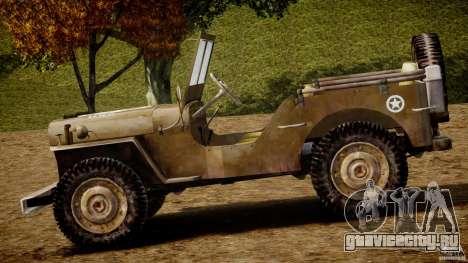 Jeep Willys [Final] для GTA 4 вид сзади слева