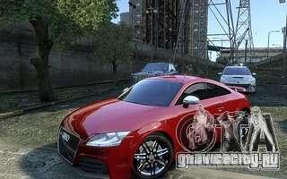 Audi TT RS 2010 для GTA 4 вид сзади слева