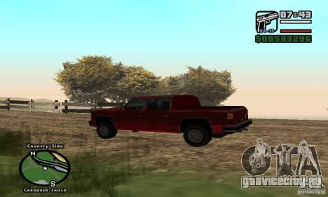 Rancher 4 Doors Pick-Up для GTA San Andreas вид слева
