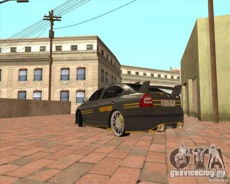 Skoda Octavia Taxi для GTA San Andreas вид сзади слева