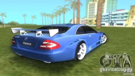 Mercedes-Benz CLK500 C209 для GTA Vice City вид сзади слева