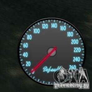 Спидометр IV (Скин 3) для GTA 4 второй скриншот