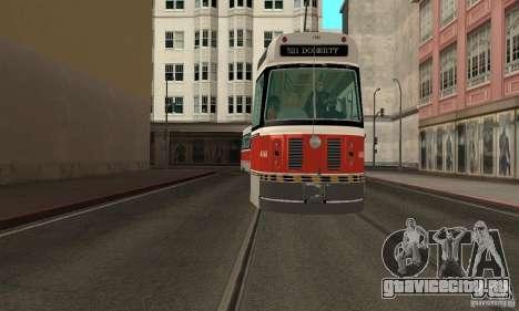 Canadian Light Rail для GTA San Andreas вид сзади слева