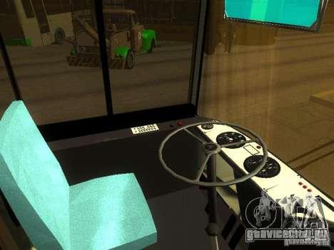 ЛАЗ 525270 для GTA San Andreas вид изнутри