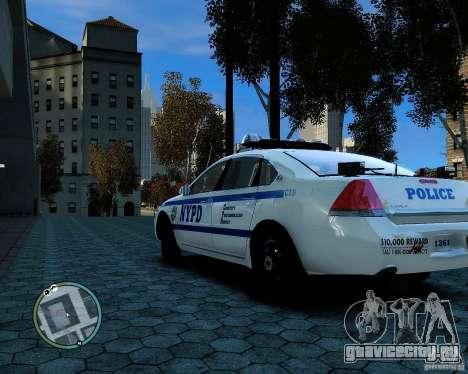NYPD Chevrolet Impala 2006 [ELS] для GTA 4 вид справа