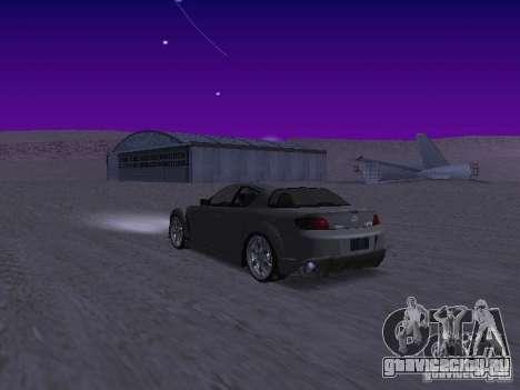 Mazda RX-8 Veilside для GTA San Andreas вид сзади слева
