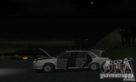 ВАЗ 2115 для GTA San Andreas вид изнутри